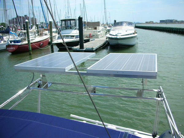 Solar Panels on Hunter 35.5