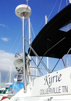 fixed top mounted on transom scoop